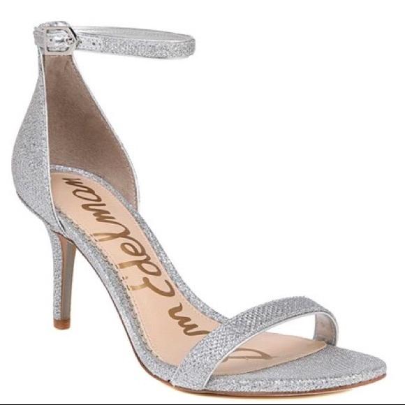 Sam Edelman Patti Silver Glitter Heels